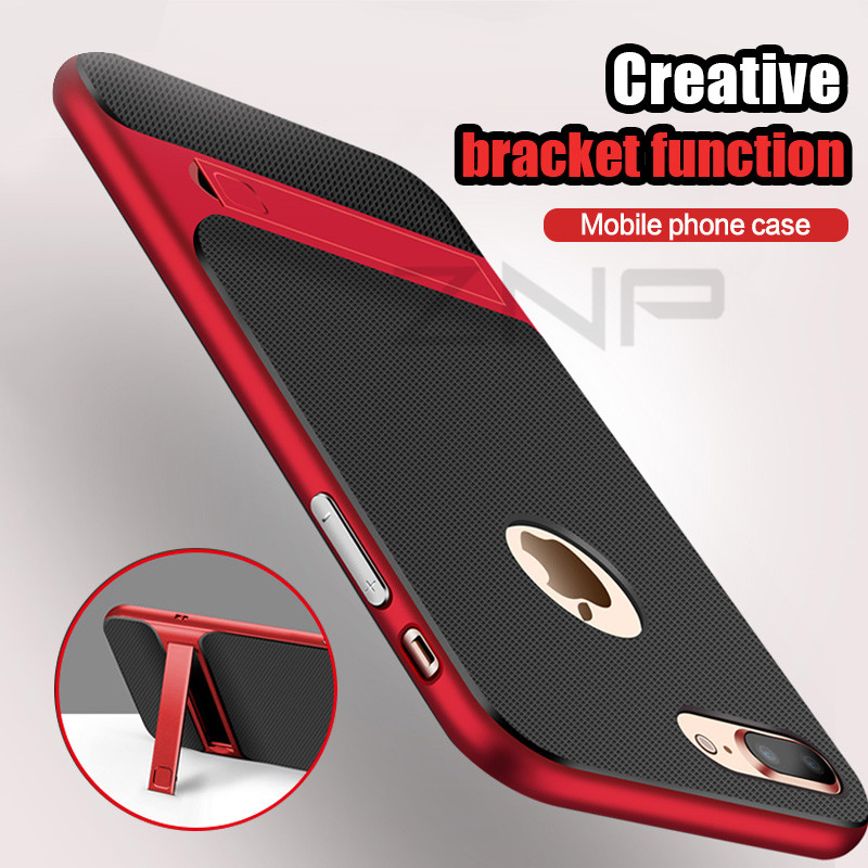 ZNP Luxury Holder Case For iPhone 6 6s 7 Plus 7 8 Cover Kickstand PC+TPU Holder Phone Cover Cases For iPhone 7 8 Plus 6 6s Case
