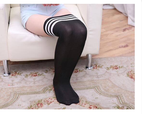 Ladies Stripped Over the Knee Socks Womens Stretchy Thigh High Dress Party Socks