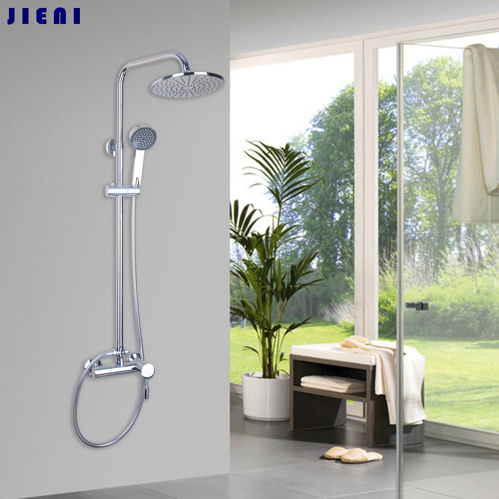 53203 Bathroom Rainfall Wall Mounted With Handheld Shower Head Faucet Set Mixer купить