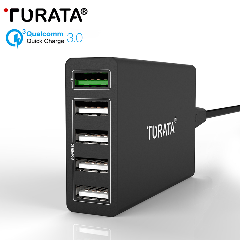 Turata 5 Ports Micro USB Quick Charger 3 0 5V 10A 50W Fast Charging Wall Universal