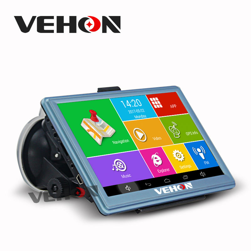 VEHON 7 Android GPS Navigation Quad Core 16G 512M AV-in Truck Navigator IPS Capacitive Bluetooth Wifi Truck Map Free Updated 5 resistive screen wince 6 0 gps navigator w fm transmitter tf 4gb brazil map black red