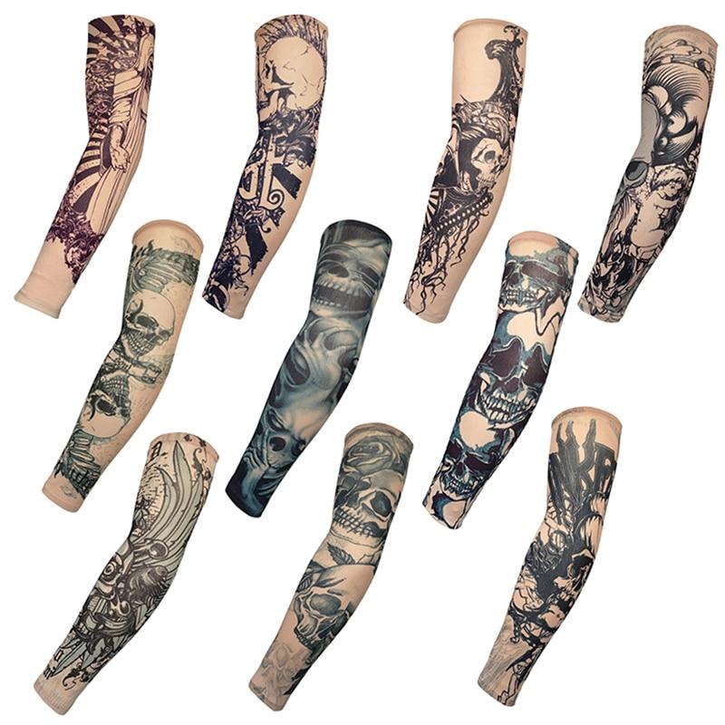 Ice Sleeve Unisex Summer Outdoor Play UV Protection Uniform High Elastic Breathable Tattoo Tattoo Print Arm Sleeve