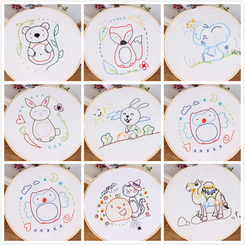,52x74CM DX1011 Astronaut Cross Stitch Kits for Beginners DIY Embroidery for Girls Crafts-Cartoon,11CT Stamped DIY Cross Stitch Needlework Home Decor