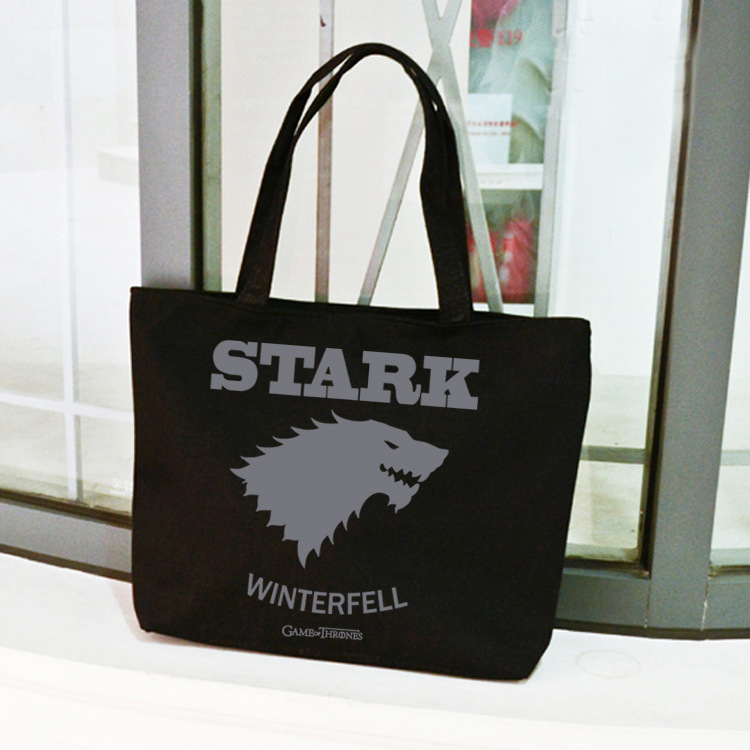 Women Girls Game of Thrones Stark Winter Fell Targaryen Fire Blood Single Shoulder Hand Bag Tote Shopping Bag Day Bag fire maple sw28888 outdoor tactical motorcycling wild game abs helmet khaki