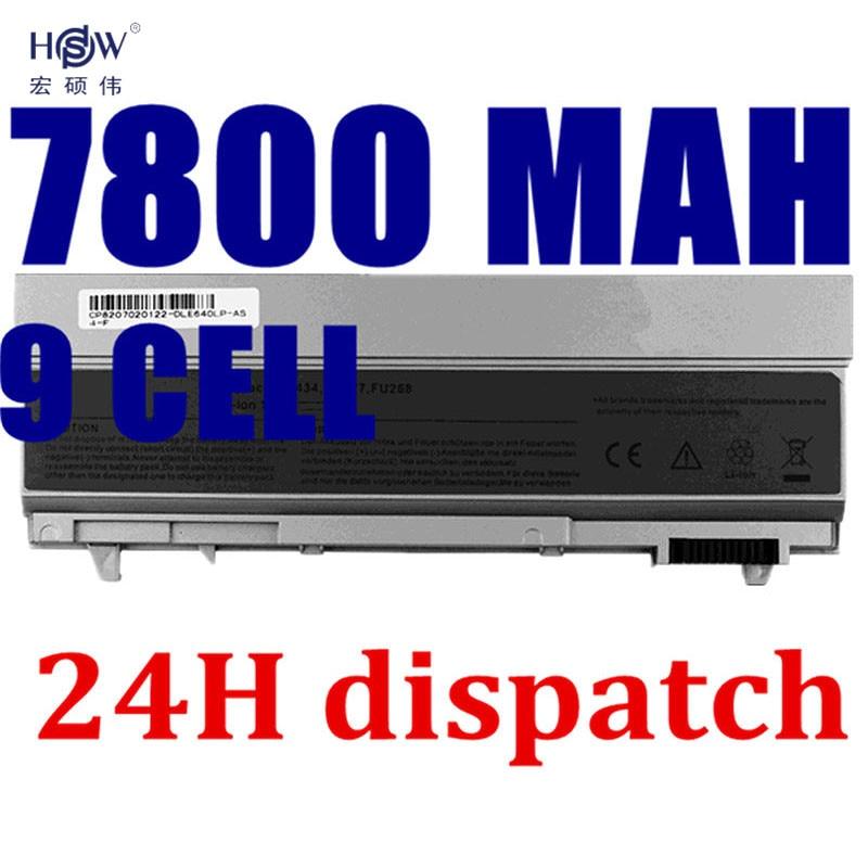 HSW 7800mAh Laptop Battery For Dell Latitude E6400 E6410 E6500 E6510 Precision M2400 M4400 M4500 M6400 M6500 1M215 312-0215 gzeele new kr keyboard for dell latitude e6400 e6410 e5500 e5510 e6500 e6510 for precision m2400 m4400 backlit korean black