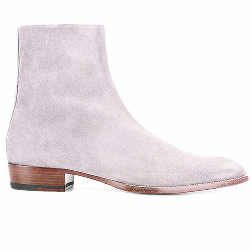 Wedge white pink suede unisex bootslow