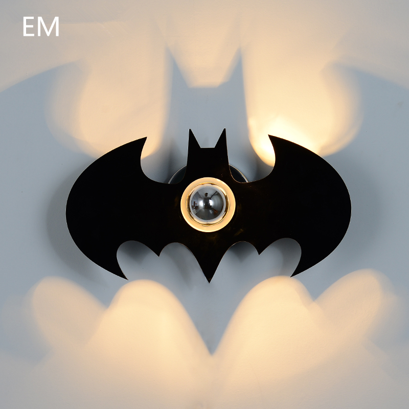 BATMAN Shadow Led Wall Light new Acryl Fashion Black E27 modern wall lamp for Bedroom led wall sconce night light ZBD0007