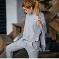 New Autumn Winter Women's Casual Tracksuit Clothing Long Sleeve O Neck Split Tops Blouses Pockets Pants Suit Tracksuits CL3331