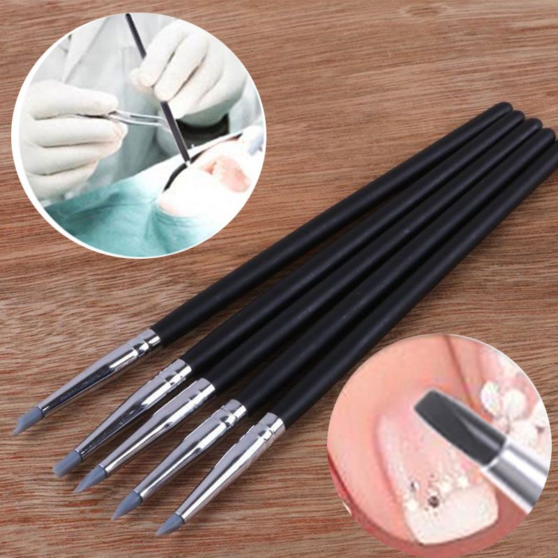 5Pcs/Lot New Dental Resin Brush Pens Dental Shaping Silicone Tooth Tool For Adhesive Composite Cement Porcelain Teeth Tools 29