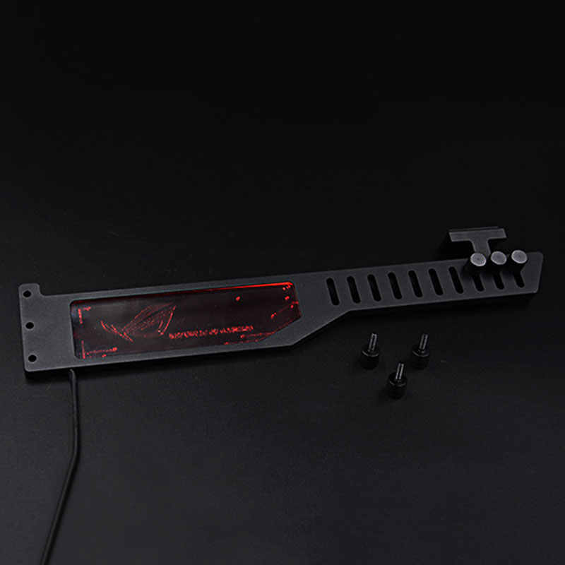 2018 видеокарта L мм: 300 мм подставка RGB для AURA 3 pin + В 5 светодио дный в цветной светодиодный кронштейн анти-изгиб Jack алюминиевый сплав металл жидкость DIY охлаждение