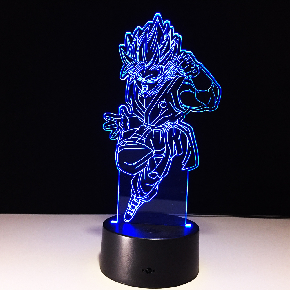 <font><b>Dragon</b></font> <font><b>Ball</b></font> WuKong 7 Color Lamp 3d Visual Led Night Lights For Kids Touch Usb Table <font><b>Lampara</b></font> Lampe Baby Sleeping Nightlight image