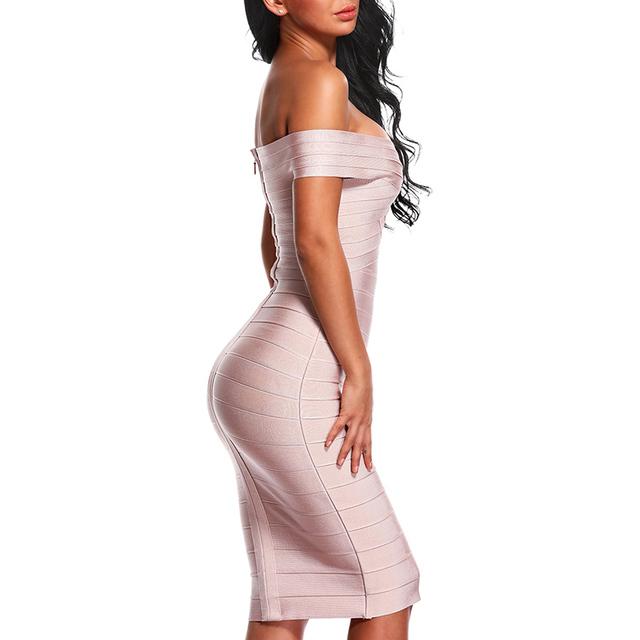 Off Shoulder Women Bandage Dress