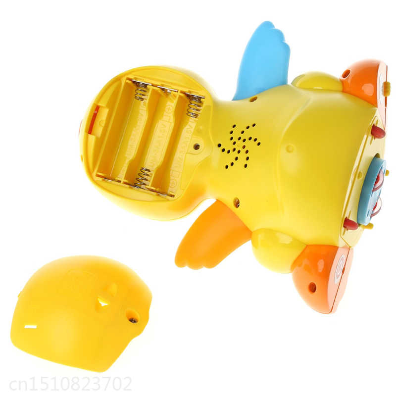 Precioso pato Musical lámparas de juguete acción con sonido ajustable juguetes para niños bebé