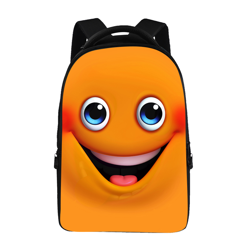 Hot Trend Max Colorful Emoji Printed 17 Inch School Backpack for Students KidsHot Trend Max Colorful Emoji Printed 17 Inch School Backpack for Students Kids