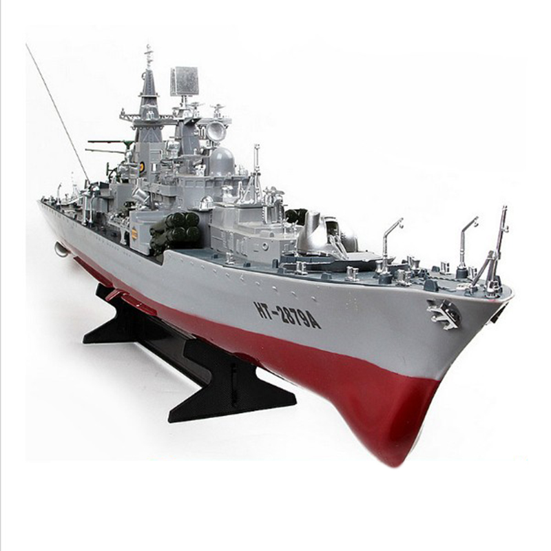Free shipping HT 2879A 1 275 RC Guided Missile Destroyer Model Electric RC Boat Large Military