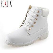 Roxdia на осень-зиму женские ботильоны новые модные женские зимние сапоги для девочек Женская рабочая обувь Большие размеры 36–41 RXW762