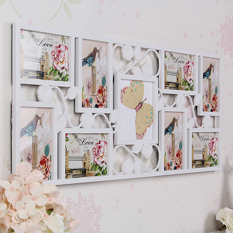 White Multi Photoframe Frames Flower Picture Wall Decor