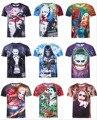 Esquadrão suicida Joker Harley Quinn T shirt Das Mulheres Dos Homens 3D T-shirt Camiseta Deadpool Anime Pokemon Justin Bieber Hip Hop Streetwear
