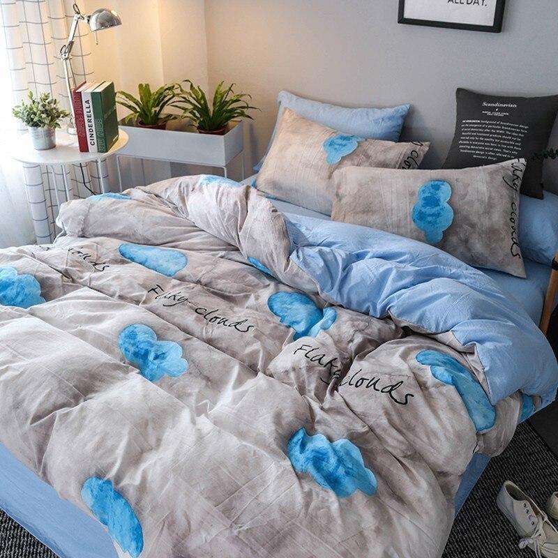 Solstice домашний текстиль постельного белья девочек постельное белье туманный туман синий пододеяльник наволочка простыня мальчик подросток...