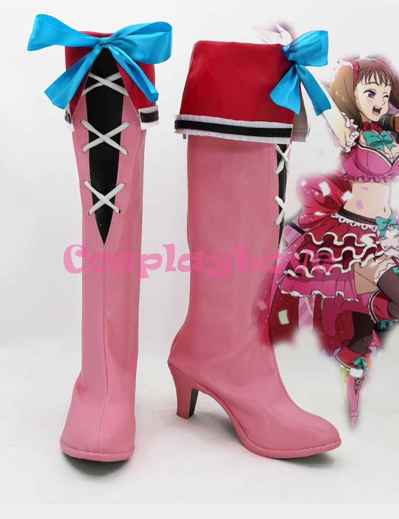 The Seven Deadly Sins Nanatsu no Taizai Serpent's Sin of Envy Diane Cosplay Shoes Boots Custom Made For Halloween Christmas