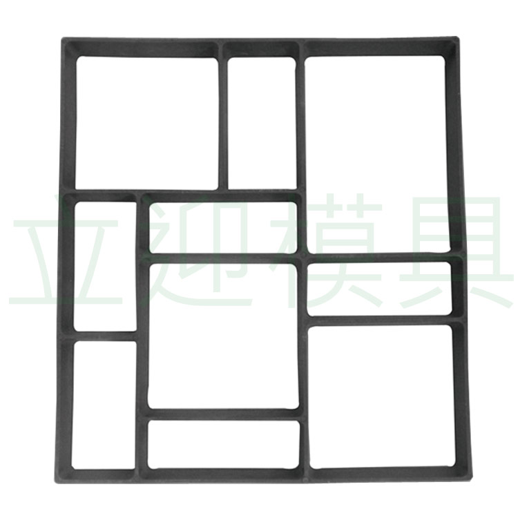 Free Shipping Rectangle Garden Paving Plastic Mold For Garden Concrete Molds Garden Path Diy Stone Model Shovel 45*40*4 Cm Furniture