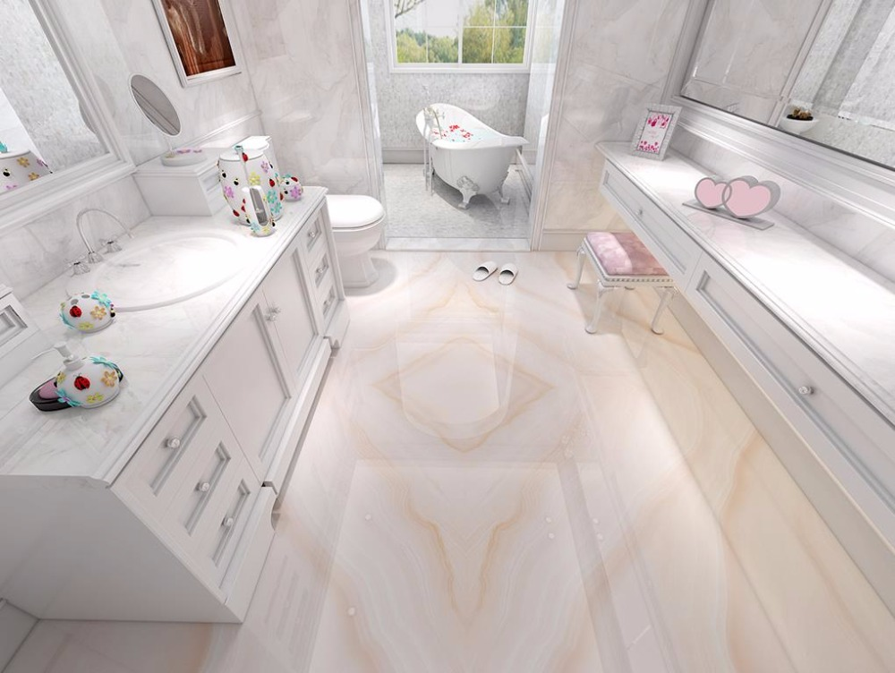 Italy 3D Flooring Pink stone pattern Mural Wallpaper 3D Flooring Wallpaper 3D Stereoscopic Wood Wall papers Home Decor stylish diy purple mangnolia and letters pattern wall stickers for home decor
