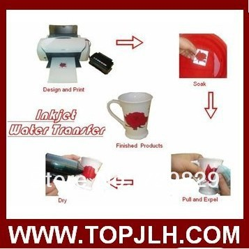 water transfer film for laser printer