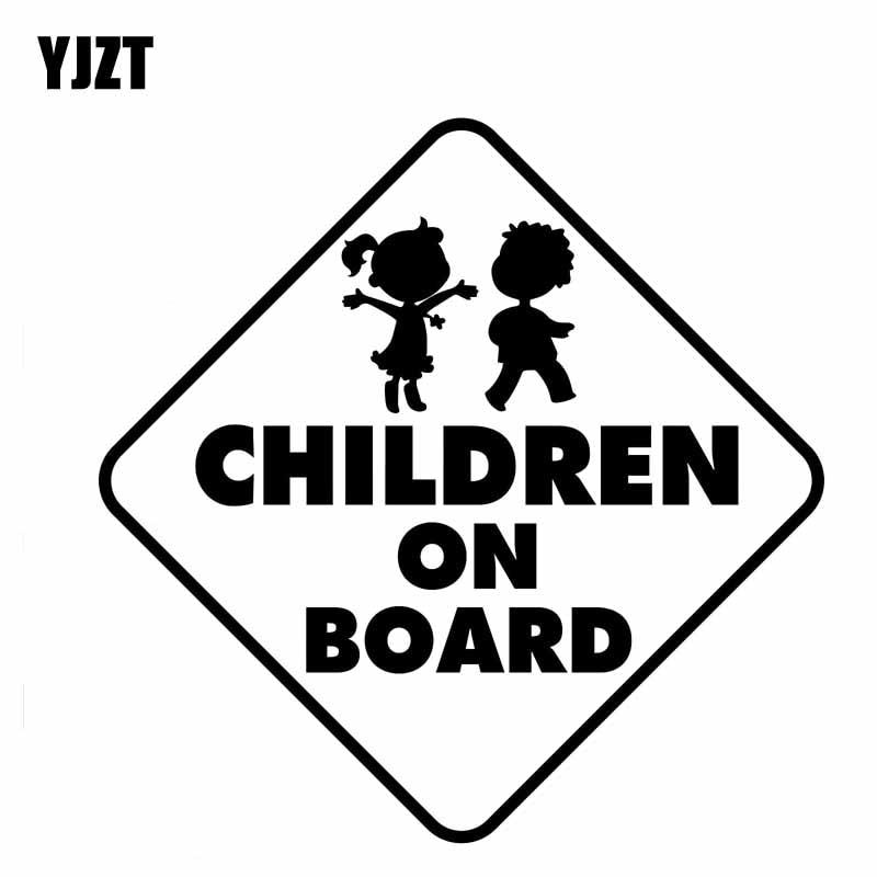 Kids inside Baby on Board Decal Sticker in Car Vinyl pick size color