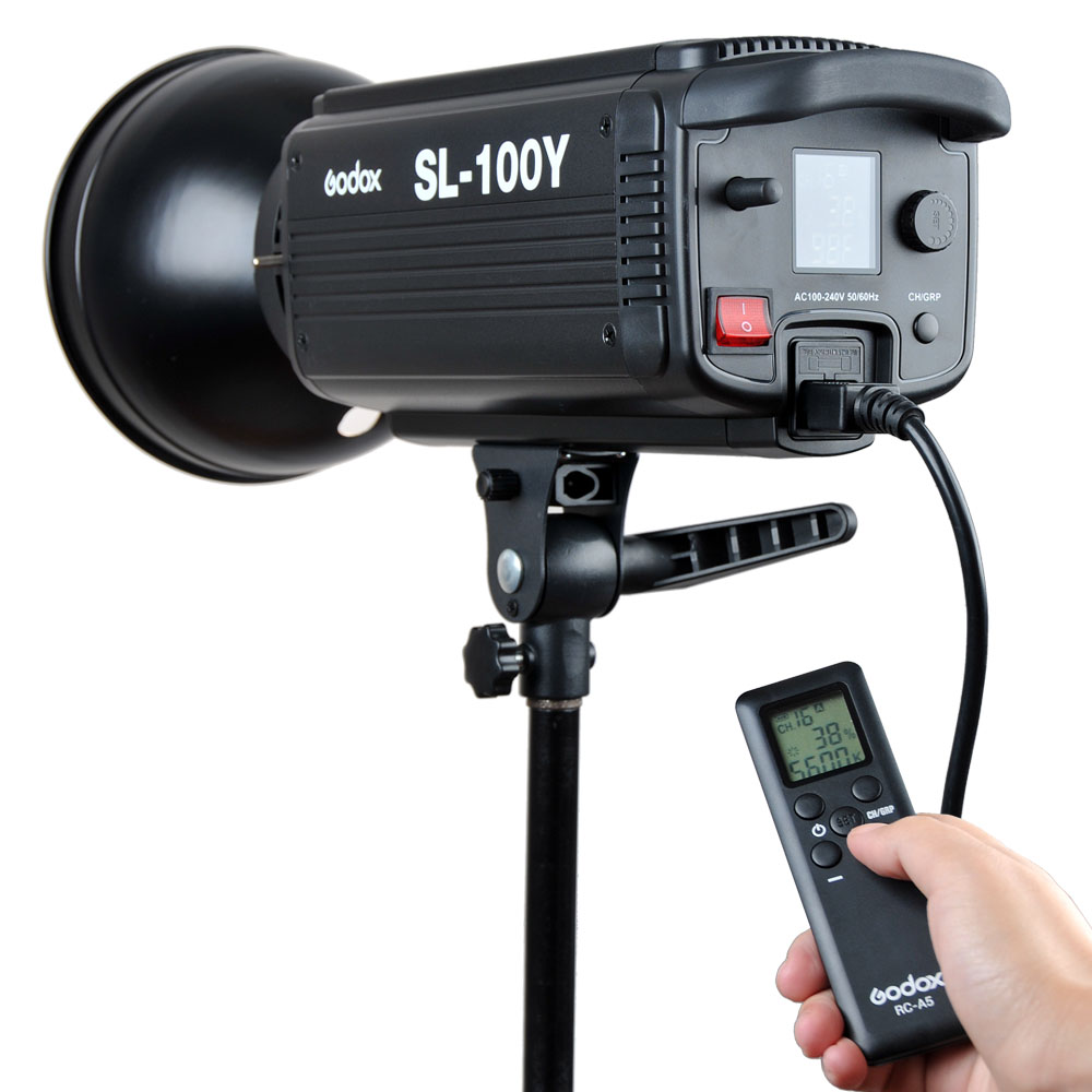 Godox SL-100Y 2400LUX Studio LED Continuous Video Light Yellow Version 3300K Bowens Mount (25)