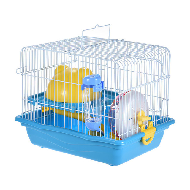 Small Animal Hamster Gerbil Mouse Rat Cage Habitat House Hideout Playground 2 Story With Feeder