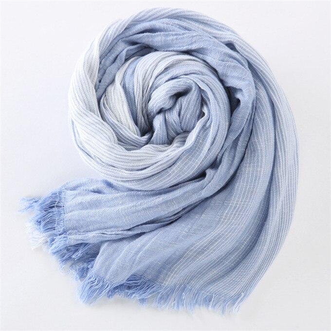Новинка, брендовый зимний шарф для мужчин, теплый, мягкий, с кисточками, Bufandas Cachecol, серый, в клетку, тканый, мятой, хлопок, мужские шарфы - Цвет: blue stripe
