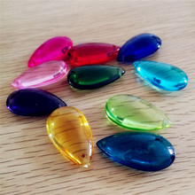 50pcs/lot , mixed color, 38mm pear shape/tear drop, crystal curtain pendant for DIY curtain , chandelier parts , FREE SHIPPING