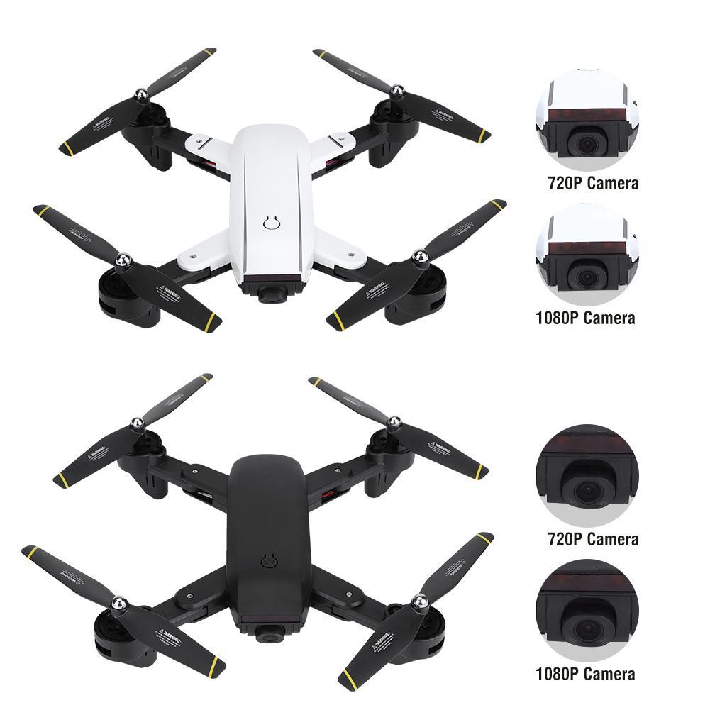 Black 1080P RC Drone Mini Foldable WiFi Remote Control Quadcopter LED Headless Mode Accessory
