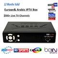 Mini caja de TV y receptor de Satélite IP-S2 + con 1 año Europa y Árabe iptv Un paquete de suscripción 1000 + canales DVB-S2 receptor IP-S2