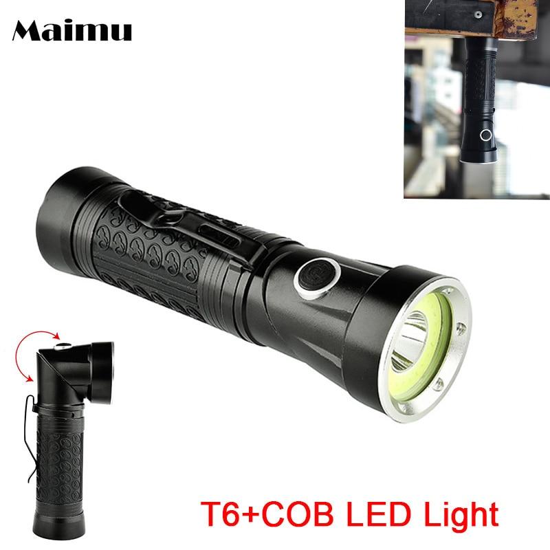 Maimu Powerful COB Flashlight White+Red Light Lamp Flodable 4 Modes Magnet Torch XML-T6 LED Focus Bike Lamp 18650/AAA M05 sitemap 27 xml
