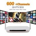 2016 Más Barato Caja del IPTV Árabe Francés Q9 TV Box Leadtv Online TV Live África Árabe Deportes Apoyo 600 + Árabe de Túnez canales