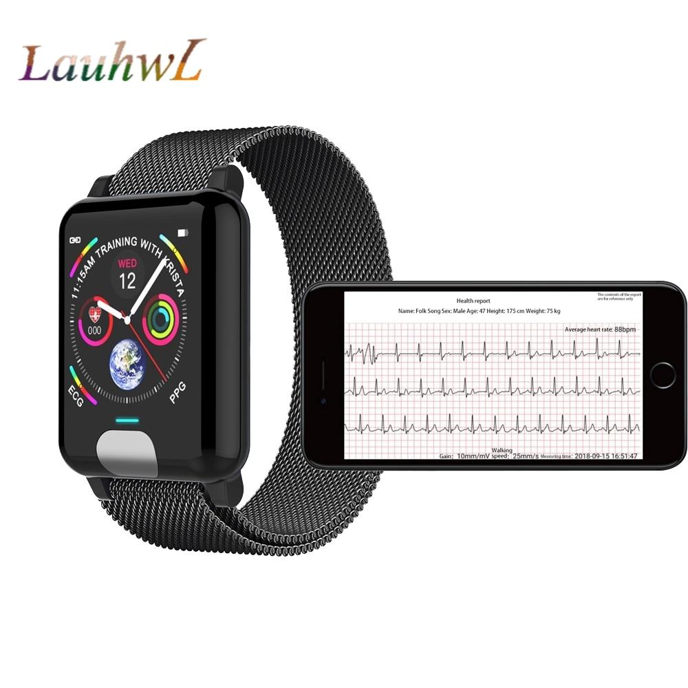 Intelligente Elektronik Gutherzig E04 Smart Uhren Ekg Ppg Herz Rate Blutdruck Monitor Fitness Tracker Smartband Für Iphone Samsung Huawei Telefon Uhr Heller Glanz Unterhaltungselektronik