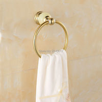 Marble Stone Finish Golden Polished Towel Ring Wall Mounted Fashion Towel Holder Stainless Steel Towel Rack ZR2213