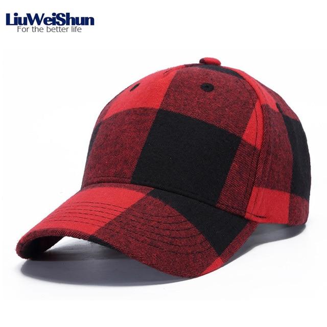 LiuWeiShun England Plaid Baseball Cap Men Women Cotton Casual Snapback Cap 8e007adf265
