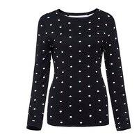 Sisjuly Women 60s Sweaters Women Autumn Dot O Neck Pullover Long Sleeve Slim Sweater Fashion Casual