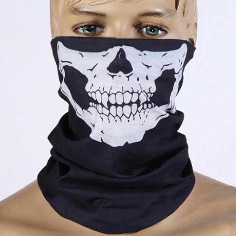 Mayitr Skull Face Mask Beanie Scarf Dust Mask Helmet Neck Paintball Bandana Halloween Outdoor Tactical Face Mask 10 Colors jaisati gas mask tactical skull resin full face fog gas masks for cs wargame airsoft paintball face protective halloween mask