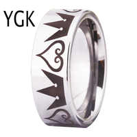 Anillo de boda clásico para hombre para mujer anillo de compromiso tungsteno Reino corazones y coronas diseño fiesta joyería regalo de aniversario