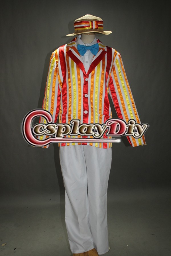 Cosplaydiy Free Shipping Customized Bert font b Jacket b font Cosplay Costume from Mary Poppins Movie