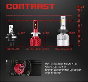 Image 4 - CarTnT 2Pcs LED H7 H4 H11 H1 H3 9005 9006 HB4 HB3 5202 Led lampe Canbus Auto Scheinwerfer Hallo  Lo 100W 12000LM 6500K 24V Führte Nebel Lampe