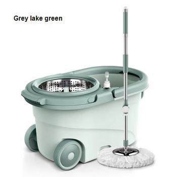Mop bucket rotary mop household free hand washing mops