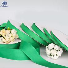 Rubans gros-grain de couleur verte, largeur 7 – 38mm, 5 Yards, pour décorations de réception de mariage, artisanat de couture, cadeau