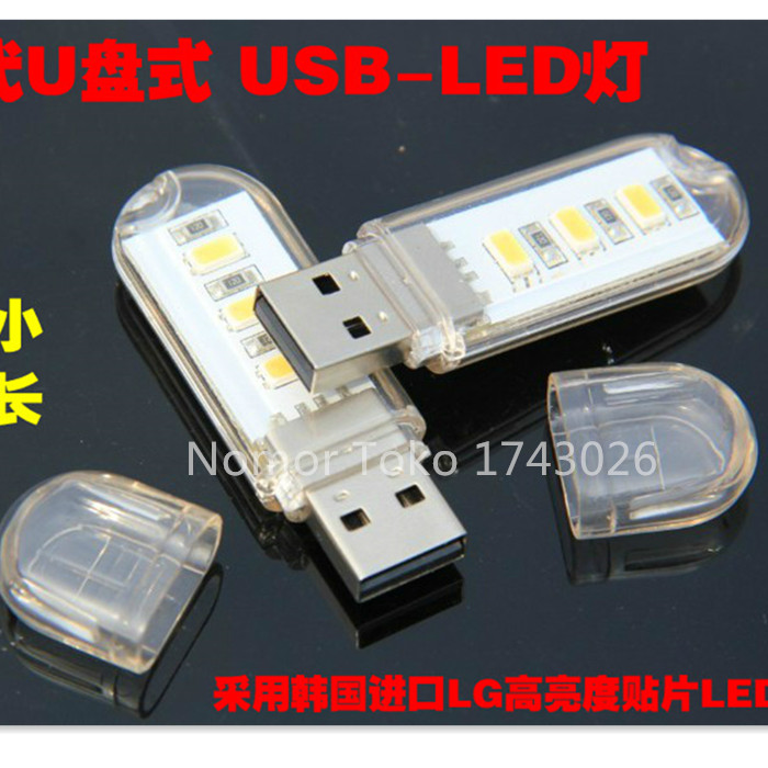 Mini LED Lights Lamp Computer Mobile Power  Keyboard  Camping  Nightlight USB  Ic...