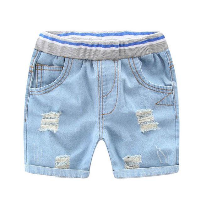 Hot Infantil Shorts Jeans Rasgado Para O Menino Estilo Menino Denim Jeans  Shorts Para Crianças Calcinhas 145468fddddd5