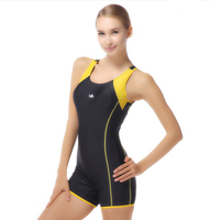 2018 Women One piece Swimming Suits with Lining Bra Pads Sport Swimsuit Patchwork Swimwear Bodysuit Bathing Suit Female Athletic
