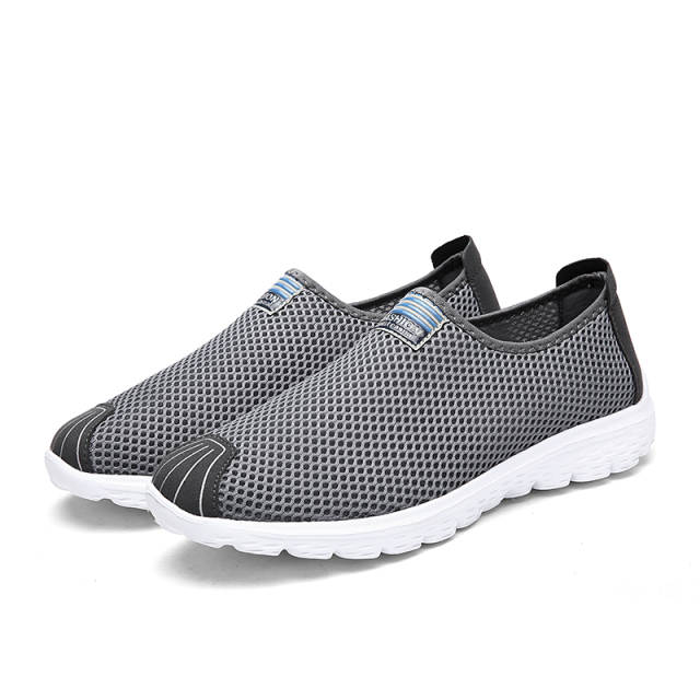 35dd2fa1a Online Shop Men Shoes 2018 New Mesh Men Sneakers Summer Breathable Casual  Shoes Fashion Slip on Men Sneakers Shoes Rubber Footwear